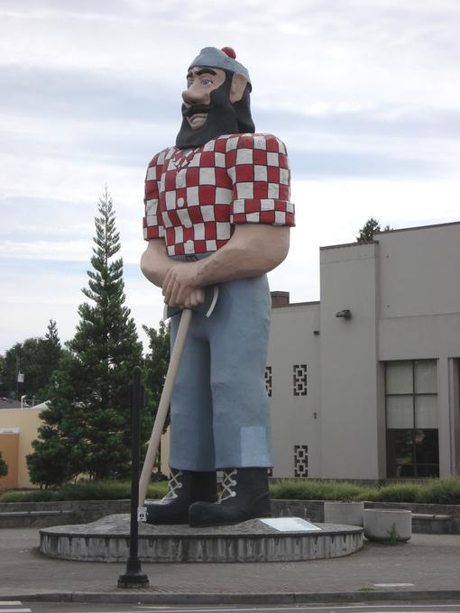 The Paul Bunyan statue in Kenton neighborhood