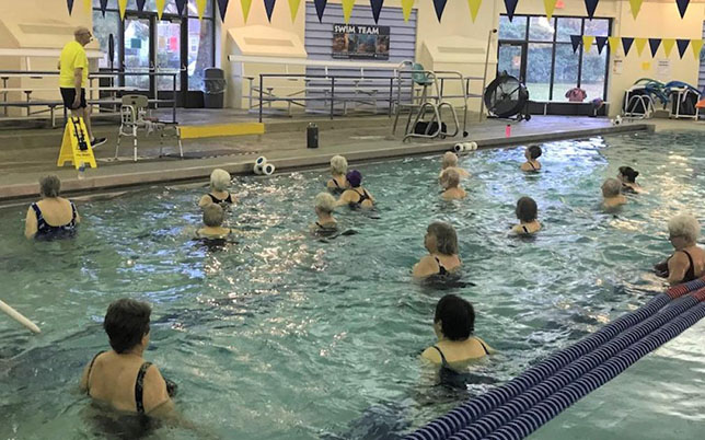 Picture of a water fitness class at Columbia Pool in Portland