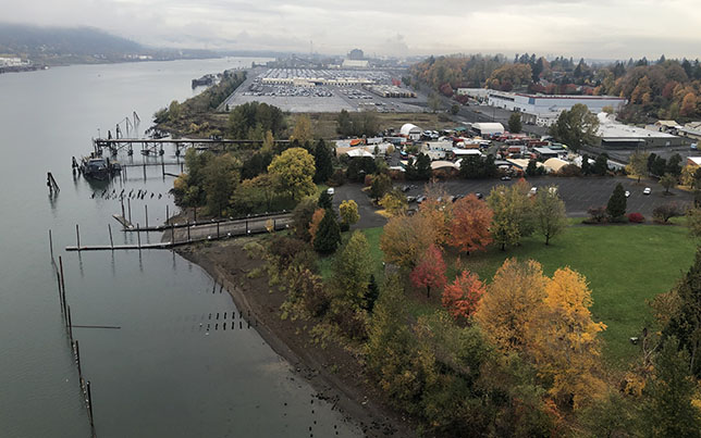 View from St. Johns Bridge Toward Proposed Drone Testing Site
