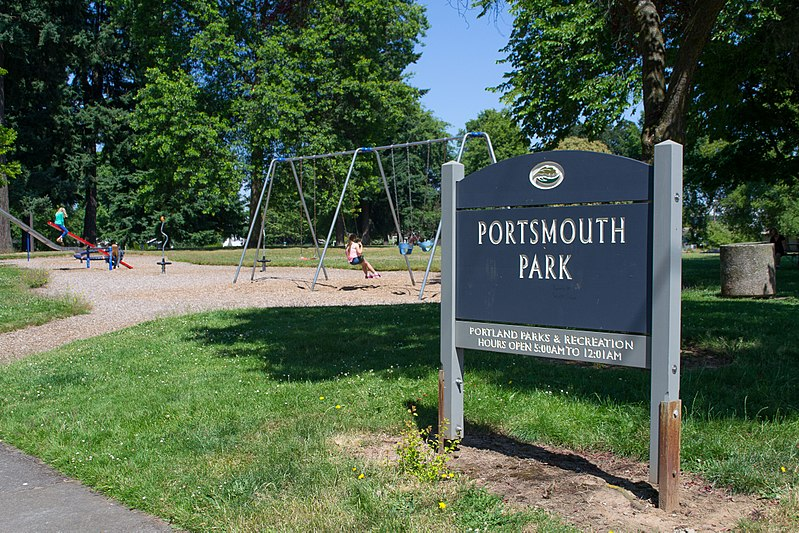 Wikipedia photo of Portsmouth Park in North Portland, Oregon.