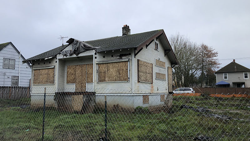 Picture of vacant home at 6330 N. Lovely Street that has been the ire of neighbors for years. Do you live near a zombie home?